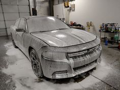 Time to get rid of some grime! Check-out our foam bath system!