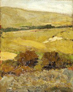 Nikolaos Lytras (Greek, Landscape 54 x cm. Summer Landscape, Landscape Art, Landscape Paintings, Landscapes, Greece Painting, Russian Landscape, Greek Art, Impressionist Art, Chiaroscuro