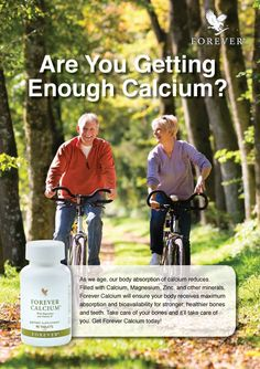 Forever Calcium is an ultra-dense calcium citrate formula. Four tablets contain 1000mg of calcium, the daily recommended dietary intake, combined with vitamin C and magnesium. For our full range of nutritional supplements click on the link. #nutritionalsupplements #vitamins #calcium