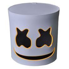 DJ Marshmello EL Wire LED Helmet Mask Cosplay Prop Halloween Mask Full Face Cosplay Prop Halloween Party Bar Masks