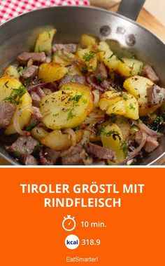 Tiroler Gröstl mit Rindfleisch - smarter - Kalorien: 318.9 kcal - Zeit: 10 Min. | eatsmarter.de