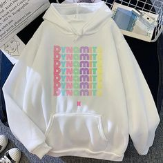 BTS Hoodie | BTS merch | BTS Store | BT21 Store | BTS Dynamite - BTS ARMY Store Kpop Fashion Outfits, Girls Fashion Clothes, Girl Outfits, Bts Hoodie, Bts Shirt, Looks Hip Hop, Bts Clothing, Bts Inspired Outfits, Kpop Merch