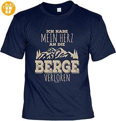 Wander T-Shirt Ich habe mein Herz an die Berge verloren Kletter Bergsteiger Shirt 4 Heroes Geburtstag Geschenk geil bedruckt (*Partner-Link)