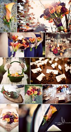 Fall Wedding...  this is EXACTLY what i wanted when we were planning on getting married in late september or october....before we found out all cjs buddy's were heading to iraq the first of june.   so so so pretty!!!