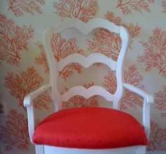 another picture of thibaut coral wallpaper