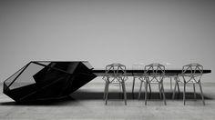 Футуристический стол-консоль для кабинета руководителя от Bozhinovski design Необычный футуристический многофункциональный стол-консоль разработала болгарская студия дизайна Bozhinovski desi...