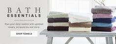 bathroom linen banner ad sale - Google Search