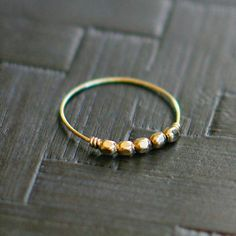 libra - minimalist gold ring by elephantine