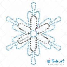 Crochet ideas that you'll love Free Crochet Snowflake Patterns, Crochet Symbols, Crochet Stars, Christmas Crochet Patterns, Crochet Snowflakes, Crochet Flower Patterns, Crochet Flowers, Crochet Diagram, Crochet Motif
