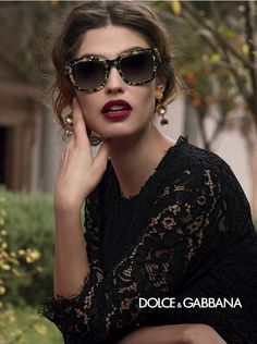 GOLDEN LEAVES: Make a statement with chic Docle & Gabbana #Sunglasses.
