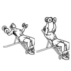 Incline Dumbell Flys.  Thy this slow form holding the stretch at the bottom and squeezing at the top. #workout #gym