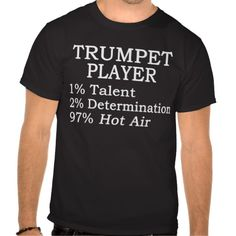 Trumpet Player Hot Air T Shirt