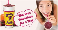 WIN Free Smoothies for a Year from Booster Juice Nutella, Smoothies, Juice, Amazing, Desserts, Free, Deserts, Smoothie, Juice Fast