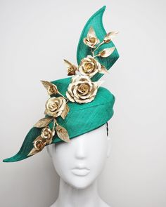 Find the Perfect Fascinator for your next Race Day. Race Day Outfits, Race Wear, Metal Comb, Millinery Hats, Fancy Hats, Green Hats, Cream And Gold, Gold Leather, Pink Purple