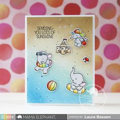 mama elephant | Stamp Highlight: SUMMER SPLASH