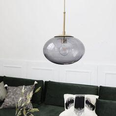 Suspension, Opal, blanc, laiton, Ø22cm, H17cm - House Doctor - Luminaires Nedgis