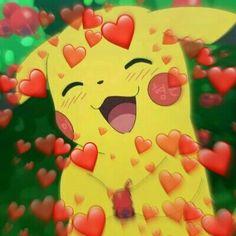 Memes Plantillas Pikachu New Ideas Origami Design, Cartoon Memes, Cute Cartoon, Cartoons, Memes Amor, Memes Lindos, Heart Meme, Cute Love Memes, Cute Love Pictures