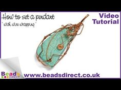 How to set a pendant with wire wrapping - Jewellery Making Tutorial - YouTube
