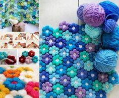Crochet Puff Flower Blanket Free Pattern | The WHOot