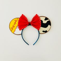 Toy Story's Jessie Inspired Minnie Mouse Ears by teilormadedesigns on Etsy https://www.etsy.com/listing/242075882/toy-storys-jessie-inspired-minnie-mouse