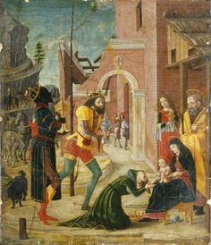 "medievalpoc: ""Bernardino Butinoni The Adoration of the Magi Italian (between 1485 and 1495) tempera on panel 24.8 × 21.6 cm (9.8 × 8.5 in) [WGA] [Wikimedia] """