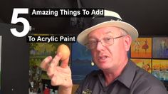 5 Amazing things to add to acrylic paint | Life Hacks | Acrylic painting...