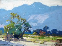missfolly: Arroyo, by Hanson Puthuff Paintings I Love, Beautiful Paintings, Oil Paintings, Landscape Art, Landscape Paintings, Cow Art, Mountain Paintings, Cool Landscapes, Painting Inspiration