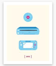 Nintendo Minimalist C Series Wii U Poster 11 x 14 by Helvebula, $15.50