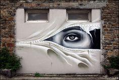 expecttheunexpectedtoday:  expecttheunexpectedtoday STREET ART UTOPIA by artist Liliwenn #France
