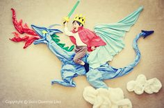 Here comes Wengenn and the Blue Dragon! Inspired by a beautiful old song- Puff the Magic Dragon.
