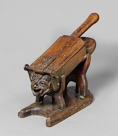 Fruit Press. Carved Oak & Wrought Iron. French. Circa 18th Century. 45cm x 37cm.