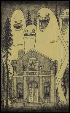 don kenn illustration 01 John Kenn: monster drawings drawn on post it notes Monster Illustration, Illustration Art, Illustrations, Rpg Horror, Horror Art, Monster Drawing, Monster Art, Creepy Drawings, Art Drawings
