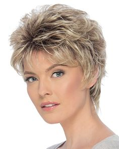 Christa by Estetica Designs – Synthetic Pure Stretch Cap Wig – The HeadShop Wigs - New Site Short Layered Haircuts, Cool Short Hairstyles, Trending Hairstyles, Hair Styles For Women Over 50, Short Hair Cuts For Women, Mandy Moore Short Hair, Haircut For Older Women, Short Wedding Hair, Short Hair With Layers