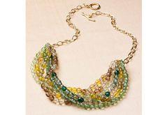 #DIY #ombre necklace