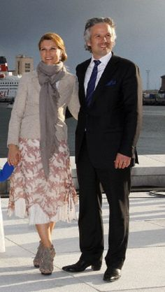 Princess Martha Louise of Norway and her husband Ari Behn arrive for the open air concert on the roof of Oslo?s Opera House on 31 May 2012
