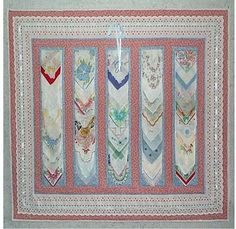 hankie quilt wall hanging
