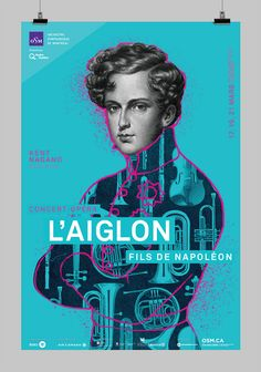 Poster design of an opera-concert for the Symphonic Orchestra of Montreal