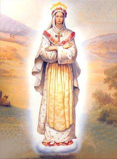 Nossa Senhora de La Salette Blessed Mother Mary, Blessed Virgin Mary, Catholic Art, Religious Art, Religious Images, La Salette, Mama Mary, Queen Of Heaven, Sainte Marie