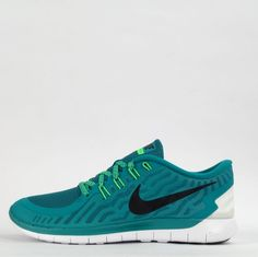 Nike Free 5.0 2015 Mens Running Trainers Shoes Sneakers Active Lightweight Green #Nike #Trainers