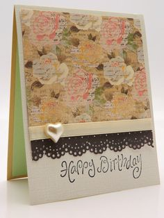 Handmade Greeting Card Happy Birthday Sweetheart by DesignsByCnC, $5.00