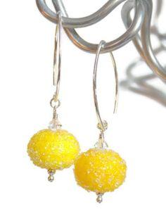 Lemon Sugar Earrings -SOLD-