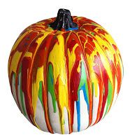 You could use this pumpkin and show them different ways that they can paint. Whether it be splatter paint, just painting it with a regular paint brush or using different items to create texture. This can tie into texture,