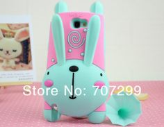 Shockproof Lovely Cute 3D Cartoon Running Rabbit Soft Silicone Cover Case for Samsung Galaxy Note 2 II♥