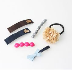 Women Girls  Hair Accessories  Pin Clip Band Handmade Made in korea  03 #Handmade