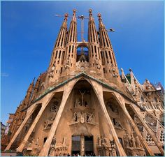 The Temple Expiatori de la Sagrada Família, often simply called the Sagrada Família, is a large, privately-funded Roman Catholic church that has been under construction in Barcelona, Catalonia, Spain since 1882 and is not expected to be complete until at least 2026.