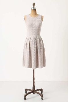 Anthropologie cabled and flared dress. Love this dress! Want to knit this next…