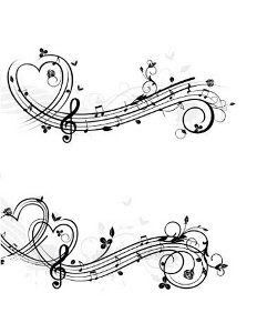 Simple Heart Tattoo for tramp stamp Music Tattoo Designs, Heart Tattoo Designs, Music Tattoos, New Tattoos, Body Art Tattoos, Tatoos, Music Tattoo Foot, Music Heart Tattoo, Sheet Music Tattoo