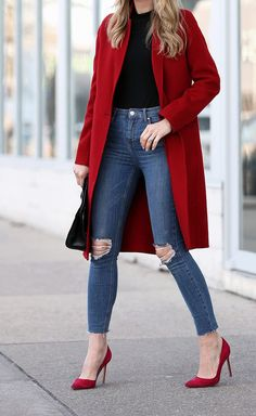 Winter outfits 2019 trendy cold outfits for teen girls cardigans for work dressy for school women going out street style warm snow classy edgy plus si. Winter Outfits 2019, Winter Outfits Women, Casual Winter Outfits, Winter Fashion Outfits, Look Fashion, Outfits For Teens, Office Outfits, Fashion 2018, Outfits With Red