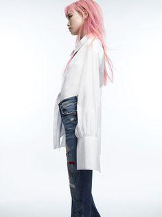 Fernanda Ly for  Zara 'Comic Meets Denim' Summer 2016            zara.com