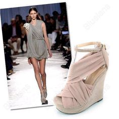 Shoes High Heels Pink Peep Toe Platform Wedges Sandals Wedding Shoes Boots US 26 26 39 05 Piece 9897 Peep Toe Platform, Platform Wedge Sandals, Pink High Heels, High Shoes, Shoes Heels Wedges, Wedge Heels, Ankle Strap Shoes, Formal Shoes, Fashion Boots